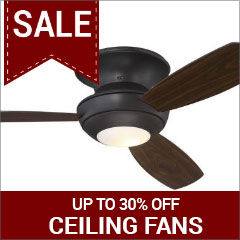 Save up to 30% on ceiling fans