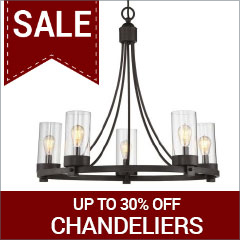 Save up to 30% on chandeliers