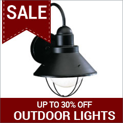 Save up to 30% on outdoor lights