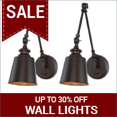 Save up to 30% on wall lights