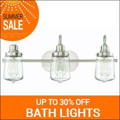 Save up to 30% on bath lights