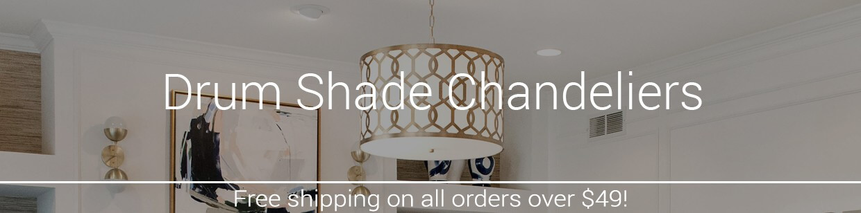 Drum shade chandeliers lightsonline mozeypictures Choice Image