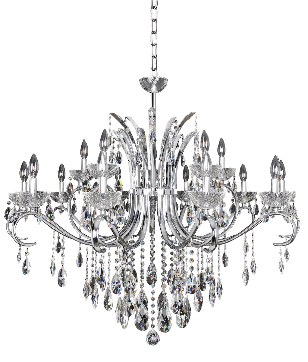 Allegri Catalani 15-Light Chandelier in Chrome w/ Firenze Crystal
