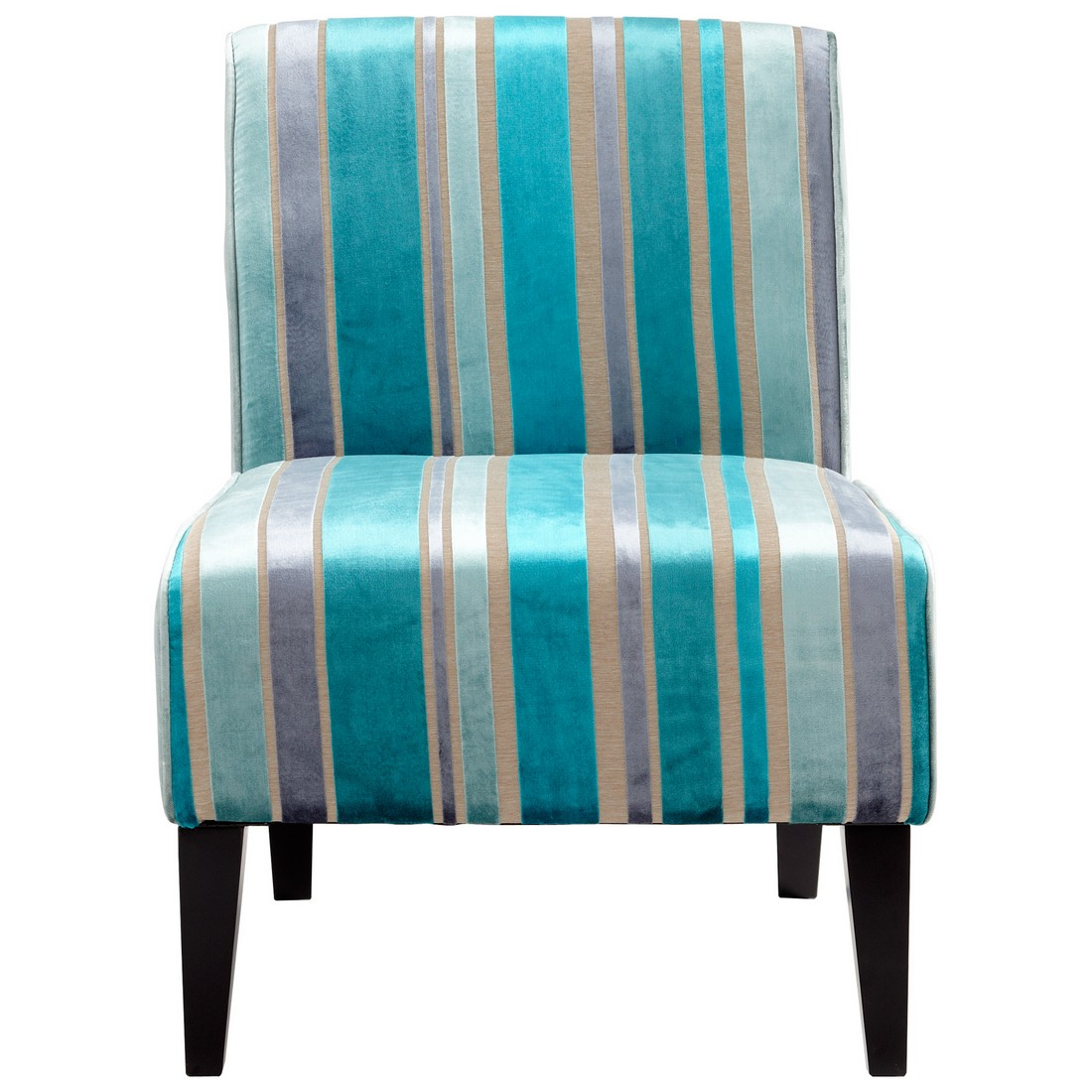 Cyan Design Ms. Stripy 31 Chair in Turquoise Blue