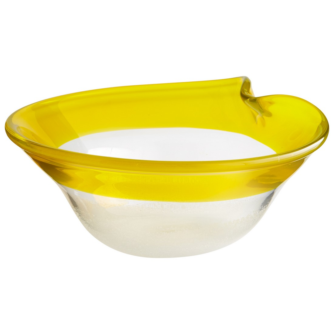 Cyan Design Saturna 13.5 Glass Bowl in Yellow/Clear