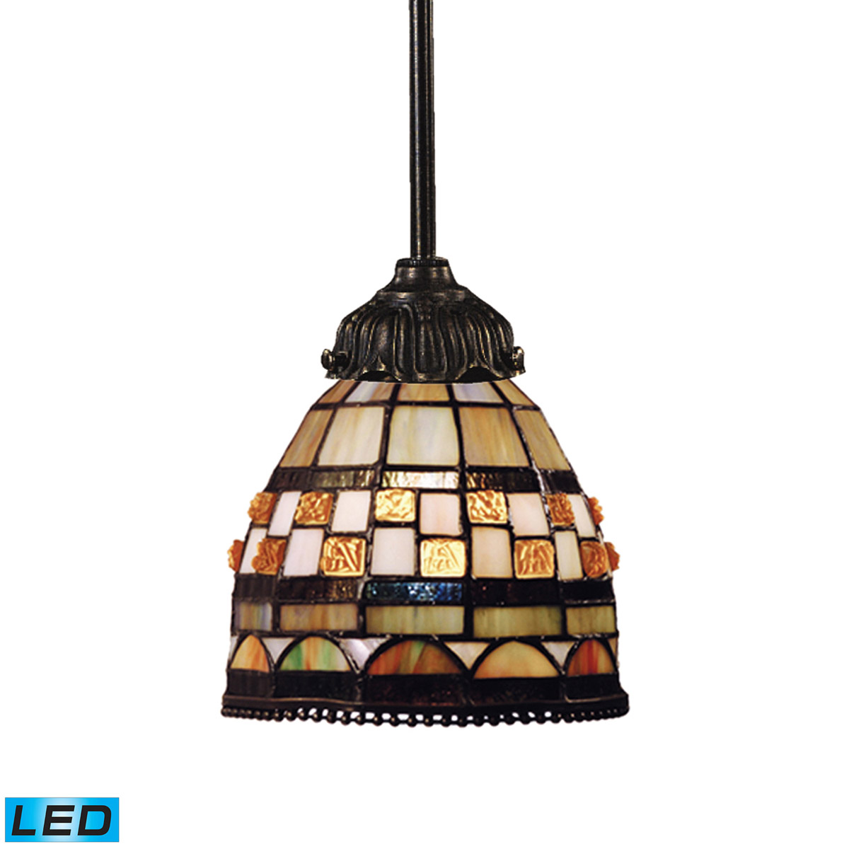 Elk Lighting Mix-N-Match LED 1-Light Pendant in Tiffany Bronze