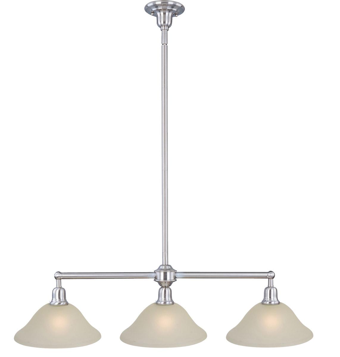 Maxim Lighting Bel Air 3-Light Island Pendant, Satin Nickel