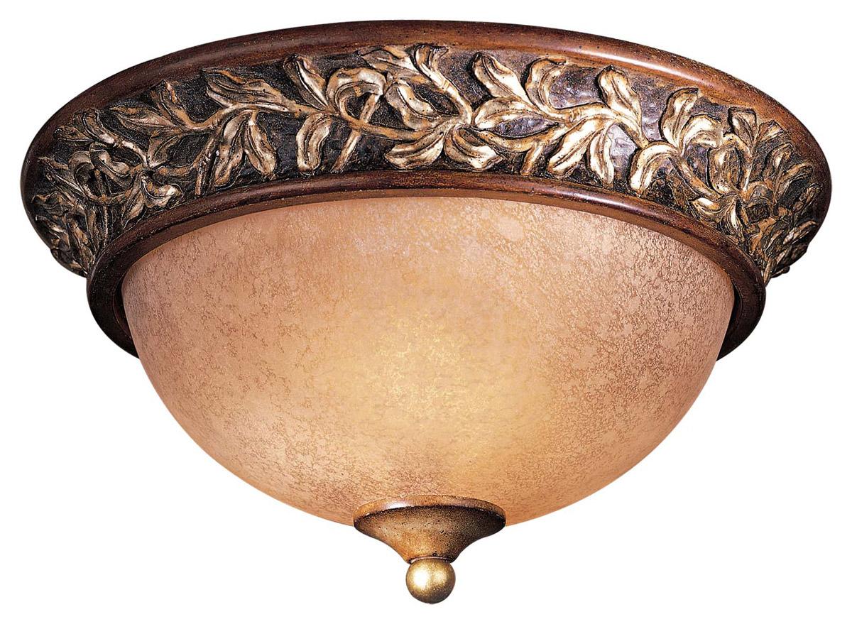 Minka Lavery Salon Grand 2-Light Flush Mount in Bronze