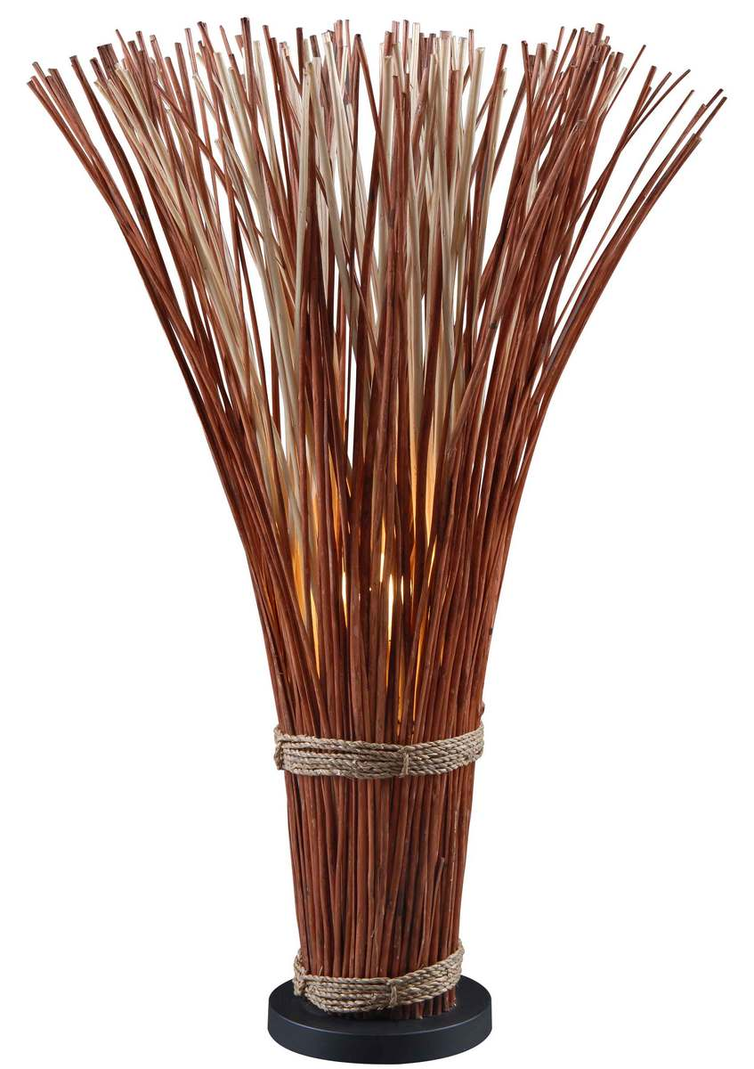 Kenroy Home Sheaf Floor Lamp in Natural Reed Finish