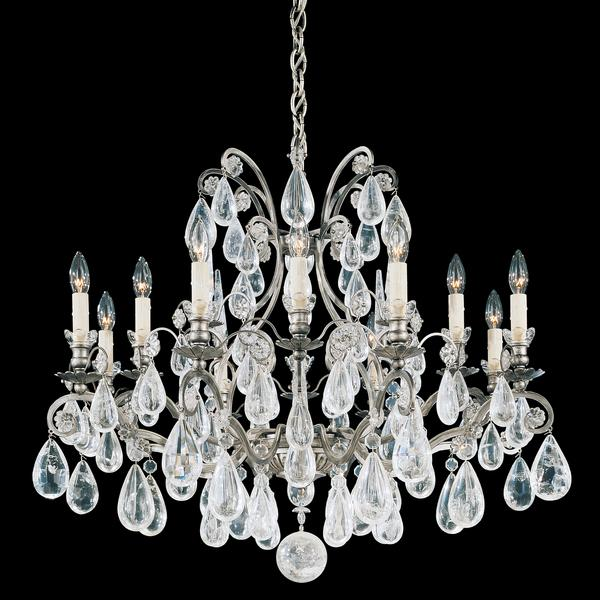 Schonbek Versailles 12-Light Antique Pewter Chandelier