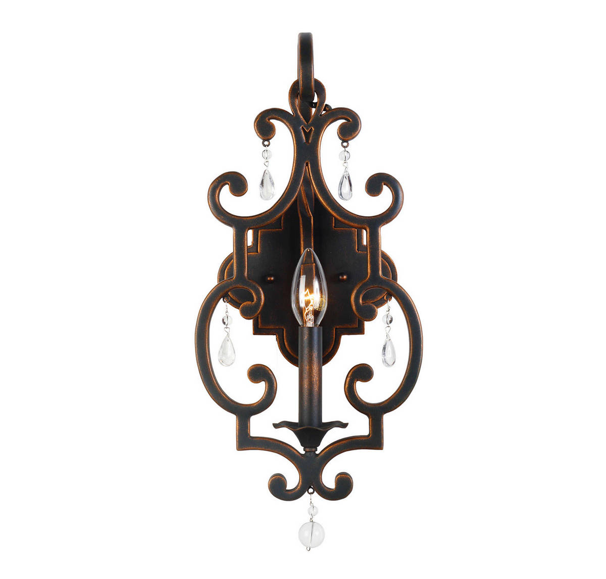 Kalco Montgomery ADA Wall Sconce in Antique Copper