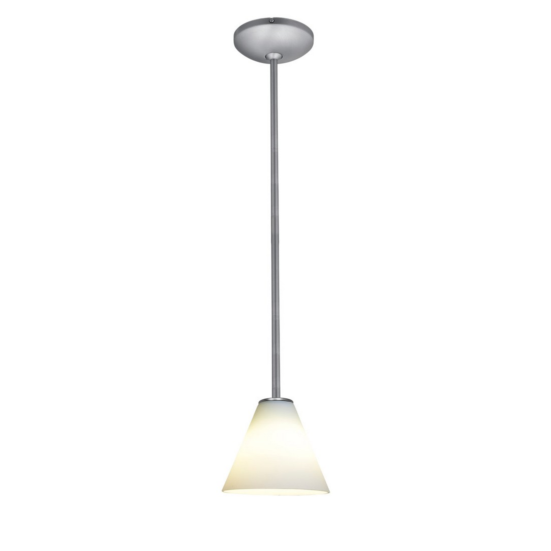 Access Martini Fluorescent White Stem Pendant in Brushed Steel
