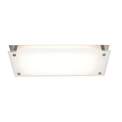 Access Vision 9.5 2-Light Ceiling/Wall Sconce in Brushed Steel