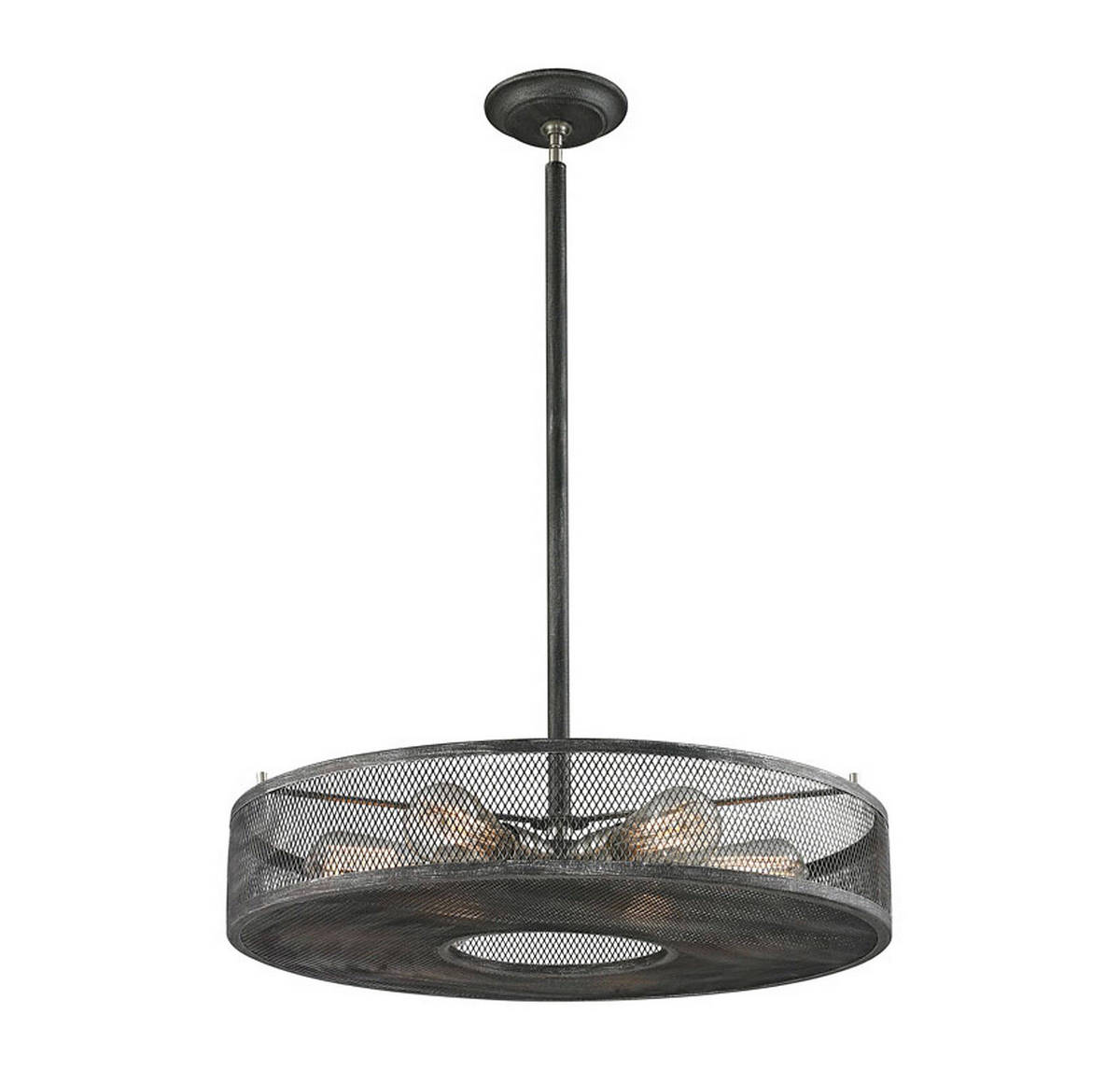 Elk Slatington 4 6-Light Pendant in Silvered Graphite/Nickel