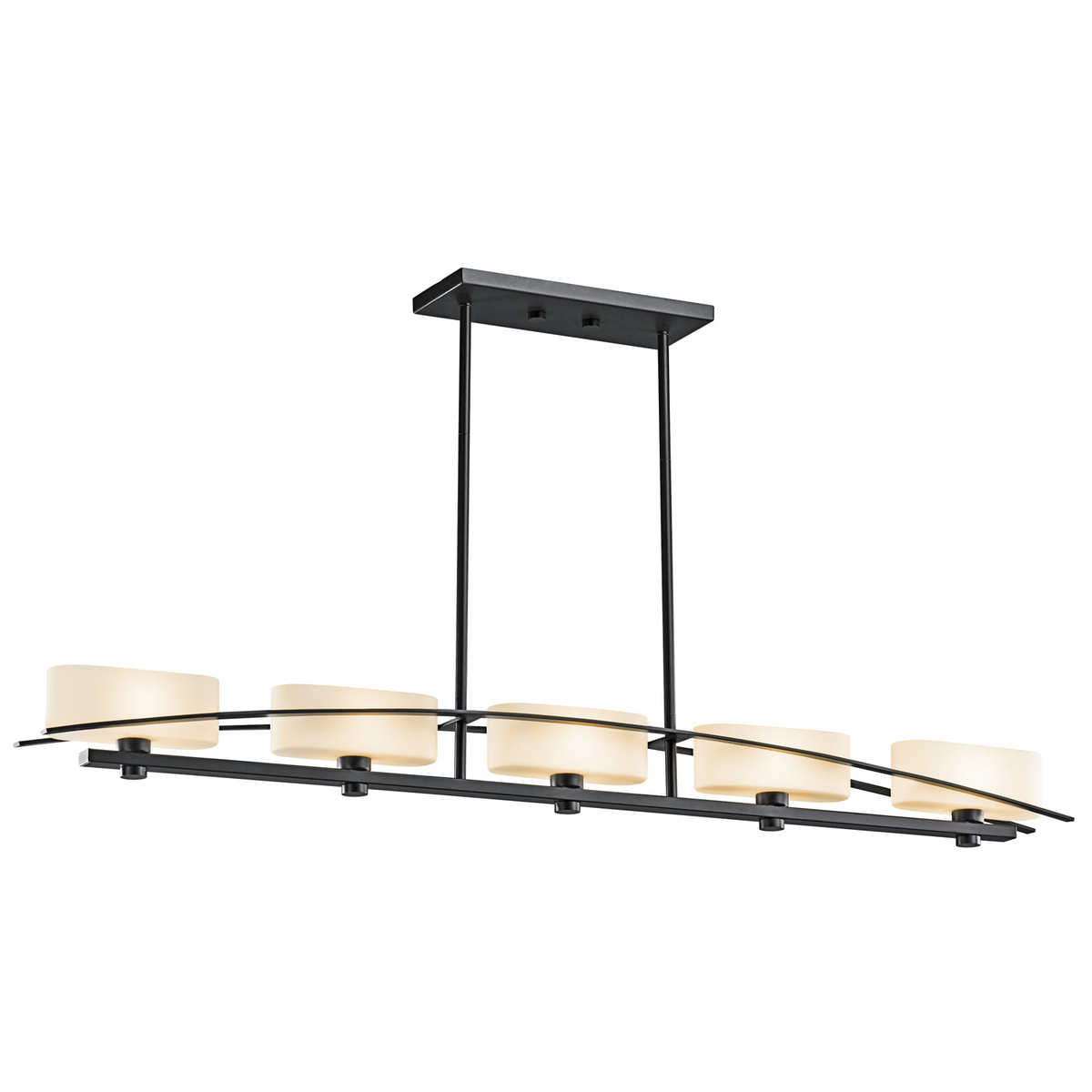 Kichler Suspension 5-Light 4.25 in Black Finish