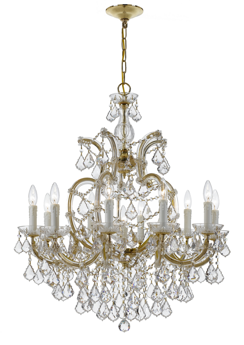 Crystorama Maria Theresa 11-Light Clear Hand Cut Chandelier
