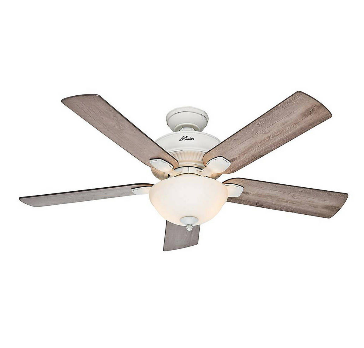 Hunter Matheston 52 Outdoor Ceiling Fan in Cottage White