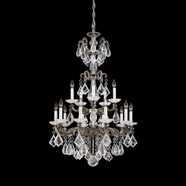 Schonbek La Scala 15-Light Rock Crystal Chandelier