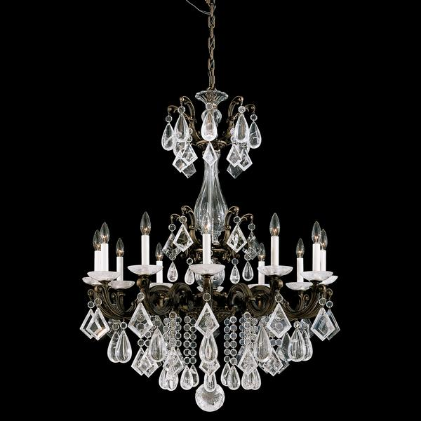 Schonbek La Scala 12-Light Rock Crystal Chandelier