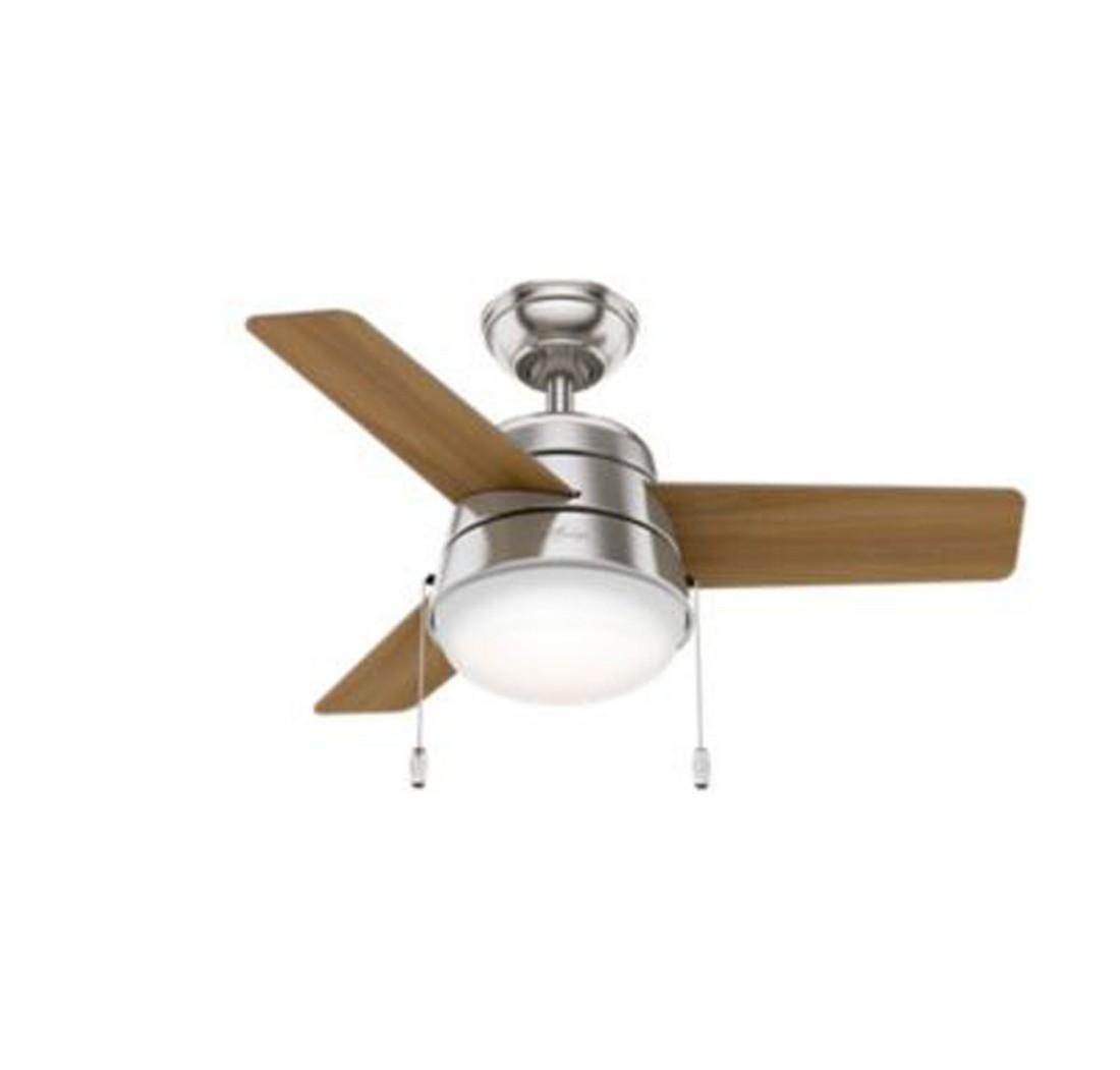 Hunter Sentinel 52 2 Light Led Indoor Ceiling Fan In Bronze Brown