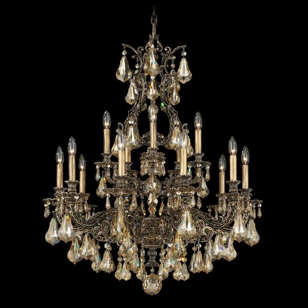 Schonbek Sophia 15-Light Golden Shadow Chandelier