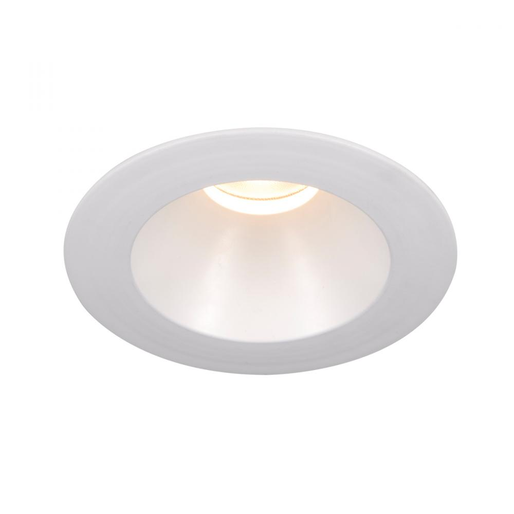 WAC Lighting Tesla PRO 1-Light 3.5in LED Round Open Reflector Trim with Light Engine in White