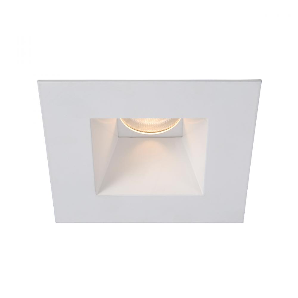 WAC Lighting Tesla PRO 1-Light 3.5in LED Square Shower Trim with Light Engine in White