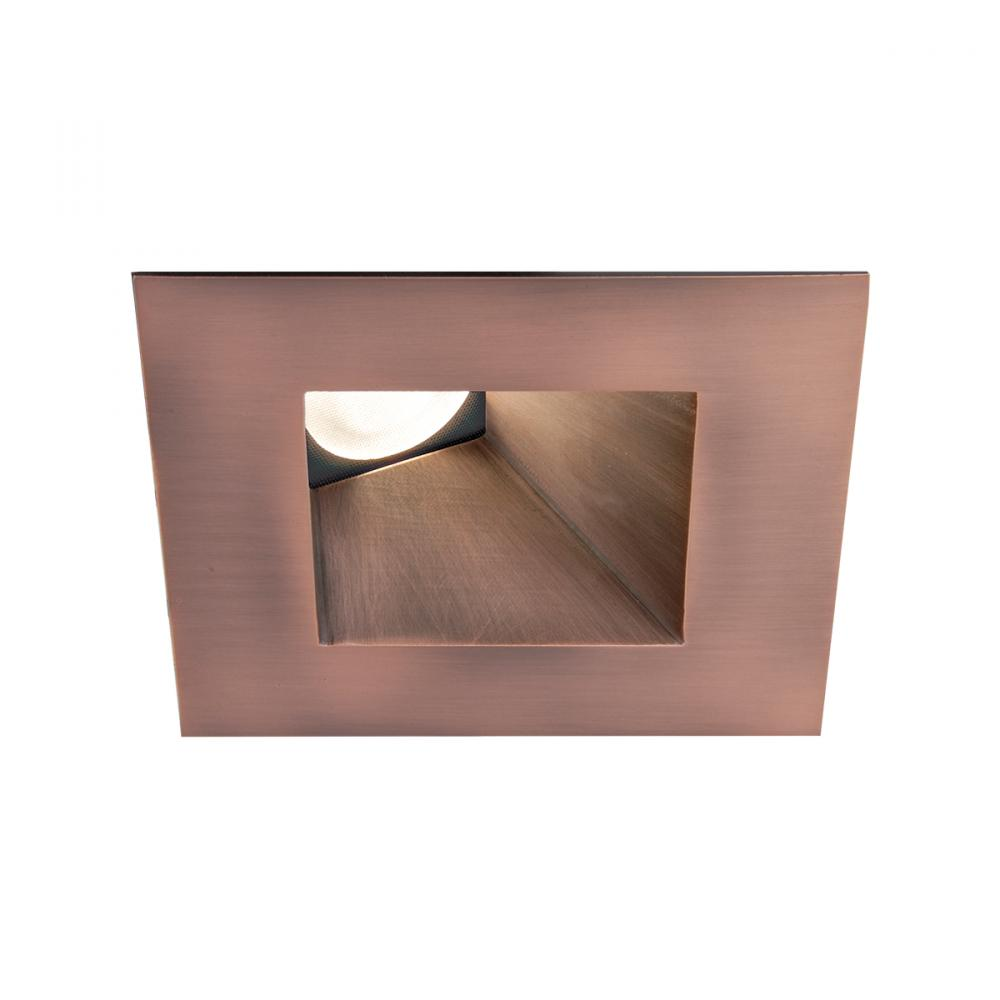 WAC Lighting Tesla PRO 1-Light 3.5in LED Square 30-45 Degree Adjustable Trim with Light Engine in Copper Bronze