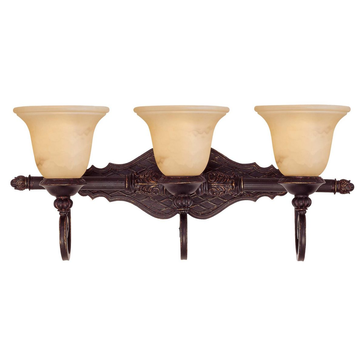 Savoy House Knight 3-Light Vanity Bar in Antique Copper