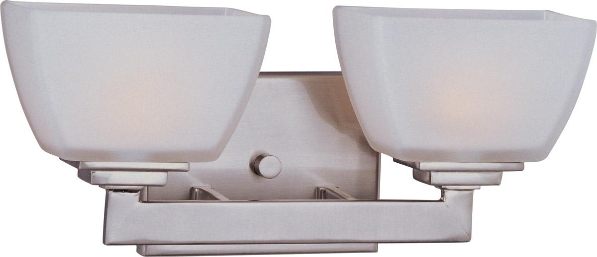 Maxim Lighting Angle 2-Light Bath Vanity in Satin Nickel