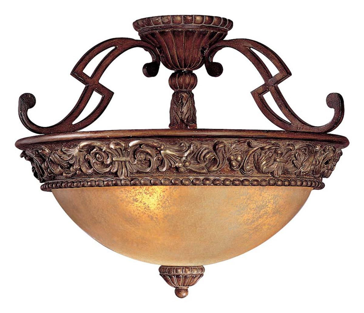 Minka Lavery Belcaro 3-Light Semi-Flush in Bronze
