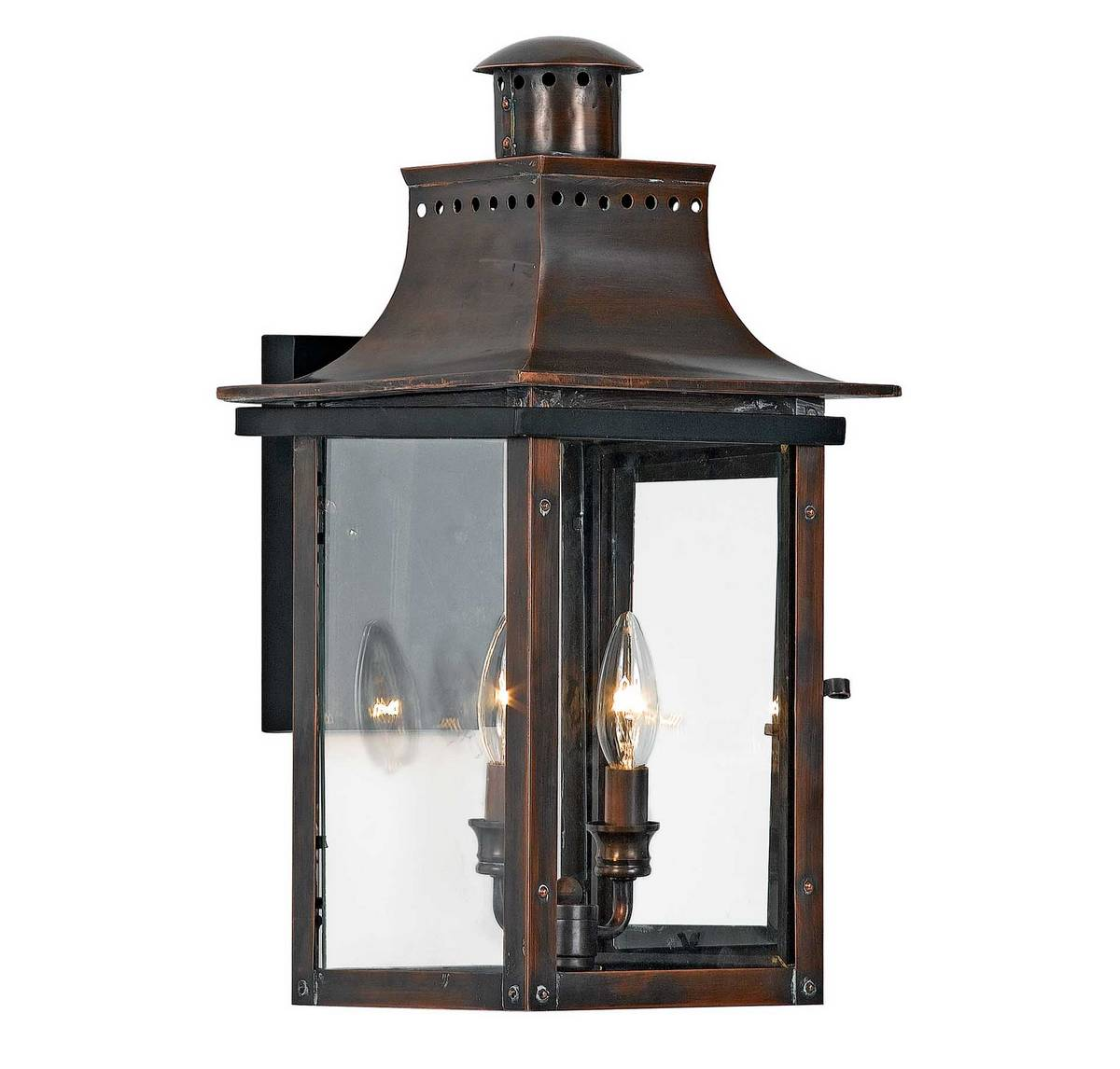Quoizel Chalmers 10 Outdoor Lantern in Copper