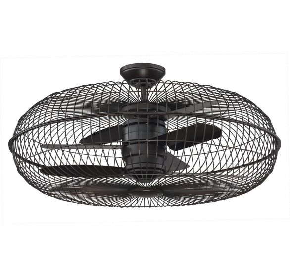 "Savoy House Senegal 28"" Air Ionizing Fan D'lier in English Bronze"