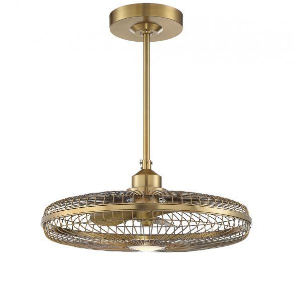 """Savoy House Wetherby 26"""" Fan D'lier in Warm Brass"""