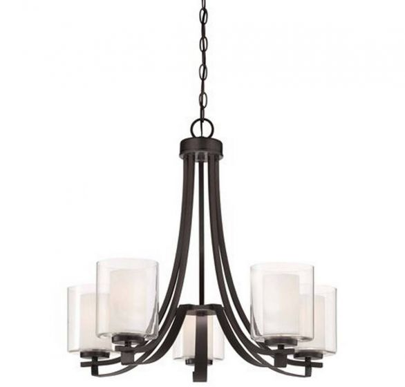 Minka Lavery Parsons Studio 5-Light Chandelier in Smoked Iron