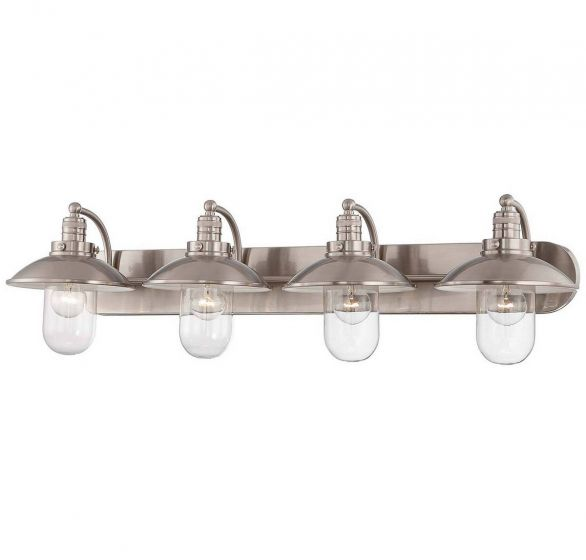 Minka Lavery Downtown Edison 4-Light Bath Vanity in Brushed Nickel