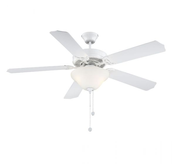 "Savoy House First Value 52"" Ceiling Fan in White"