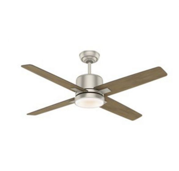 "Casablanca Axial 52"" LED Indoor Ceiling Fan in Brushed Nickel/Chrome"
