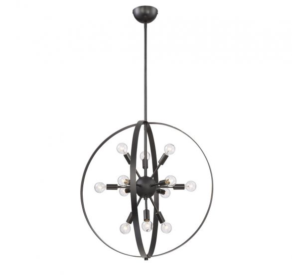 Savoy House Marly 12-Light Chandelier in Classic Bronze