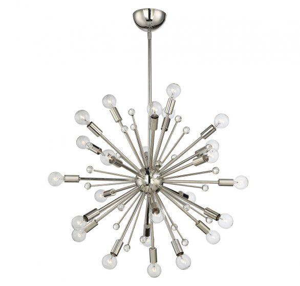 Savoy House Galea 24-Light Chandelier in Polished Nickel