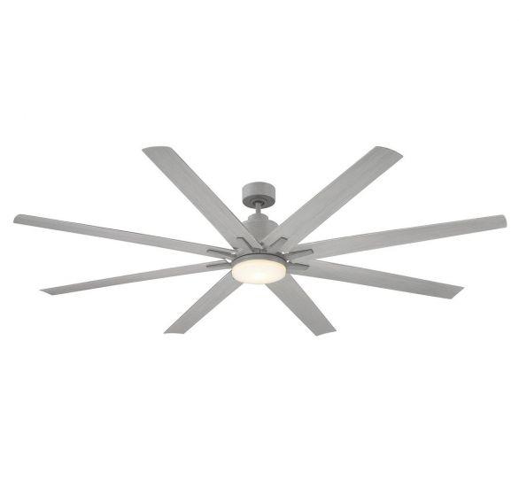 "Savoy House Bluffton 72"" 8 Blade Outdoor Ceiling Fan in Grey Wood"