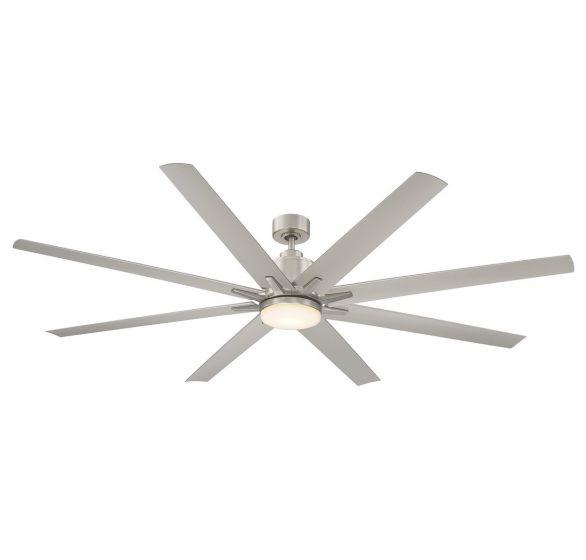 "Savoy House Bluffton 72"" 8 Blade Outdoor Ceiling Fan in Satin Nickel"