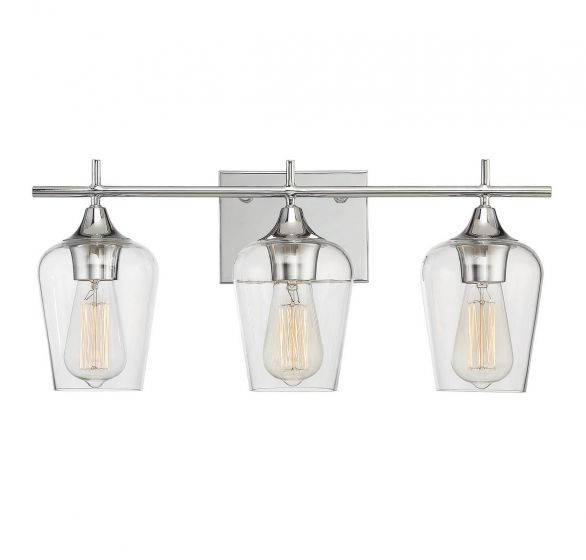 Savoy House Octave 3-Light Bathroom Vanity Light in Polished Chrome