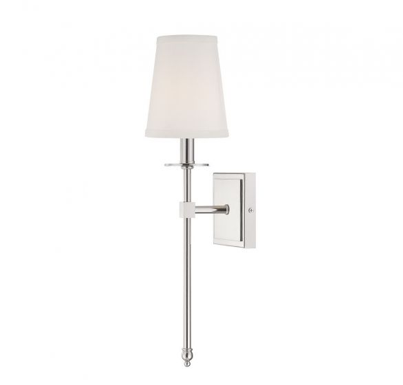 "Savoy House Monroe 20"" Wall Sconce in Polished Nickel"