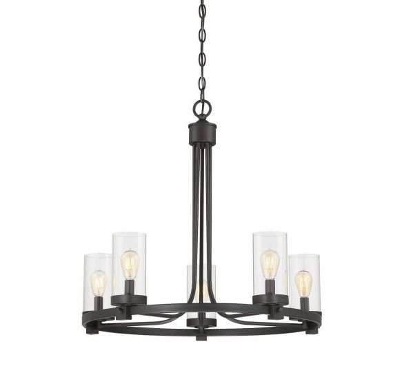 Trade Winds Lighting Slim 5-Light Chandelier in Oil Rubbed Bronze