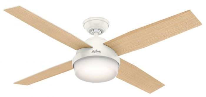 """Hunter Dempsey 52"""" LED Indoor Ceiling Fan in White"""