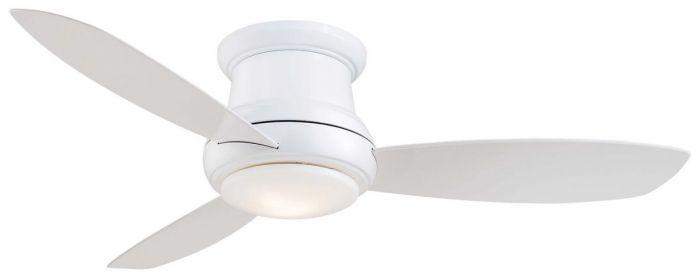 "Minka-Aire Concept II 52"" LED Flush Mount Ceiling Fan in White"
