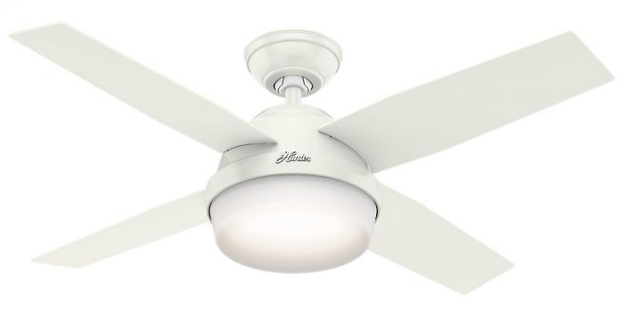 """Hunter Dempsey 44"""" LED Indoor Ceiling Fan in White"""