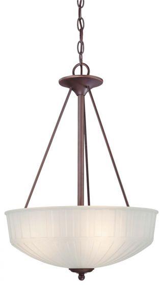 "Minka Lavery 1730 Series 3-Light 17"" Pendant Light in Lathan Bronze"