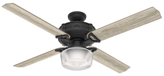 """Hunter Brunswick 60"""" LED Smart Ceiling Fan in Iron/Pewter"""